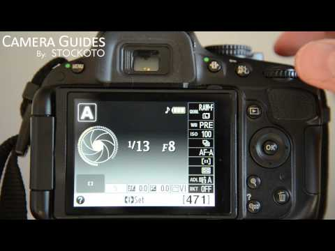 How to set Exposure Compensation on a Nikon D5100 , D5200, D5300