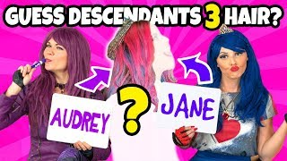 GUESS THE DESCENDANTS 3 CHARACTER BY THE HAIR. (Totally TV Characters)