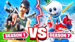 SEASON 1 VS SEASON 7 WEAPON CHALLENGE *NEW* Game Mode in Fortnite Battle Royale