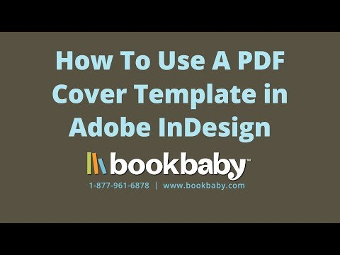 How To use a PDF Cover Template for Your Book in Adobe InDesign