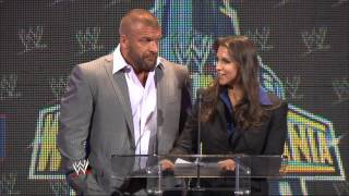 """Paul """"Triple H"""" Levesque & Stephanie McMahon appear at the WrestleMania 29 Press Conference"""