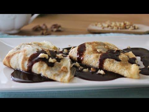 Gundel Pancake - with Walnut Filling and Chocolate Sauce (Gundel palacsinta)