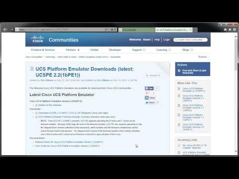How to Download the UCS Platform Emulator
