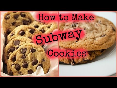 How to make SUBWAY CHOCOLATE CHIP cookies at home