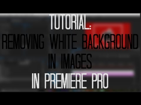 Removing White Backgrounds in Images Tutorial in Premiere Pro