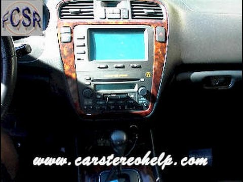 Acura MDX Car Stereo Removal