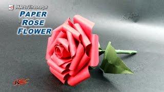 DIY How to make Paper Rose Flower Valentine's day gift idea  | JK Arts 921