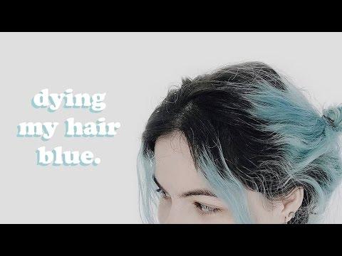 Dyeing my hair blue DIY by eataliens