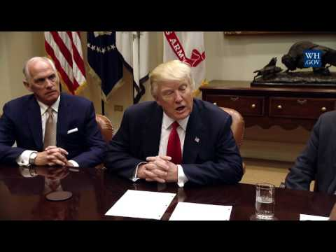 President Trump Leads a Listening Session with Health Insurance Company CEOs