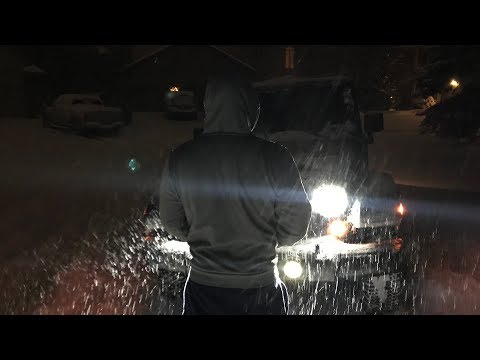 My First Time Using 4 Wheel Drive In My Jeep Wrangler Unlimited In Heavy Snow