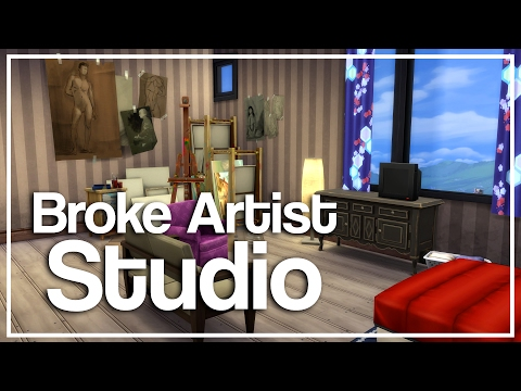 The Sims 4 Apartment Build - Broke Artist Studio [Starter]