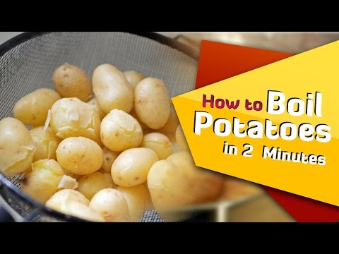 How To Boil Potatoes In 2 Minutes | Life Hacks