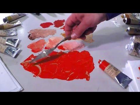 Mixing Cadmium Red Light - Vasari Classic Oil Colour