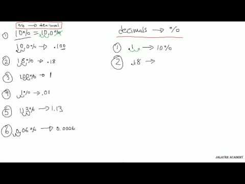 MATH - Convert Percent to Decimal