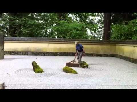 Raking the Sand and Stone Garden