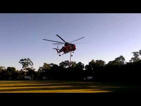 Perth Hills bushfire - Sikorsky-Erickson Air Crane helicopter taking off from Glen Forrest Oval
