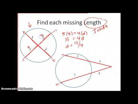 Finding Segments Lengths in Circles