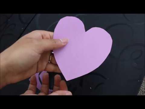 how to cut perfect heart shape //mom and aditya