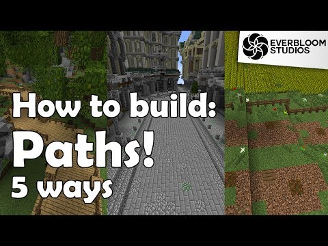 How to Build: Paths in Minecraft!