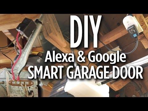 DIY - Smart Garage Door Opener with Amazon Alexa, Google Home & Smart Plug