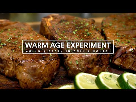 WARM AGE EXPERIMENT - Age Steaks in 2hrs Sous Vide!
