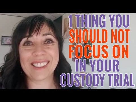 One Thing You Should NOT Be Focusing On At Your Child Custody Hearing