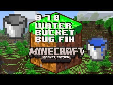 Minecraft Pocket Edition 0.7.0 Water Bucket Bug Fix iPhone/iPod/iPad/iPad Mini