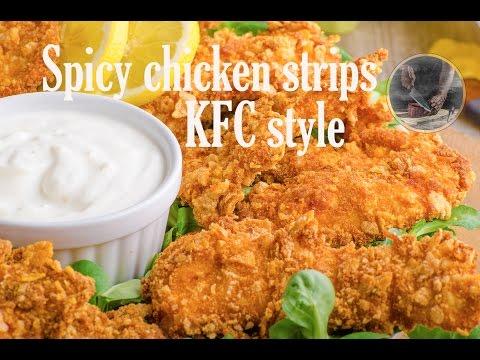 Spicy chicken strips delicious, KFC style, #creativekitchen