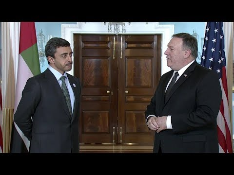 Secretary Pompeo with UAE Foreign Minister Sheikh Abdullah bin Zayed