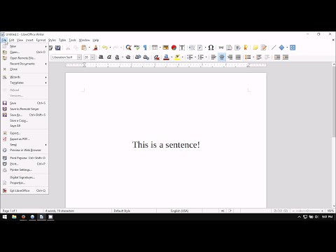 LibreOffice Writer: How to Export as PDF