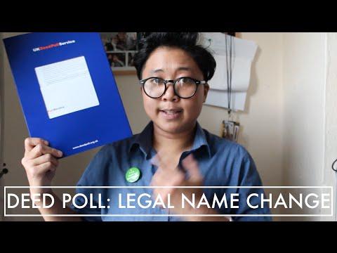 UK Deed Poll: Legal Name Change