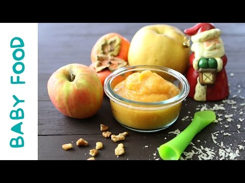 Persimmon Pear Apple - baby food recipe +6M