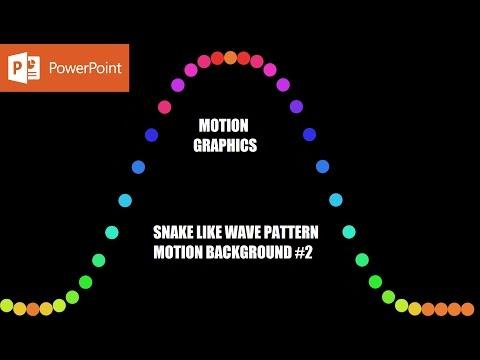 Snake Like Wave Pattern Vol. 2 | Motion Backgrounds in Microsoft PowerPoint 2016 Tutorial