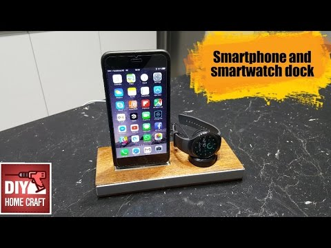 Homemade smartphone and smartwatch dock