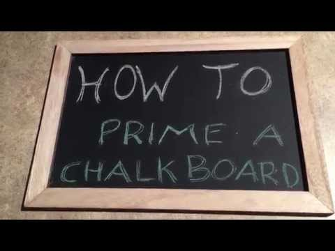 How to Prime a Chalk Board