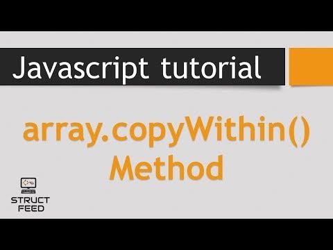 copyWithin Method in JavaScript Arrays