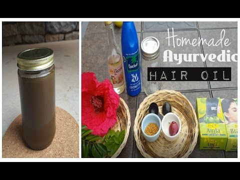 DIY Herbal hair oil|How I make my homemade Ayurvedic hair oil