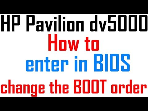 rd #235 How to enter in BIOS and change the boot order for HP Pavilion dv5000 laptop