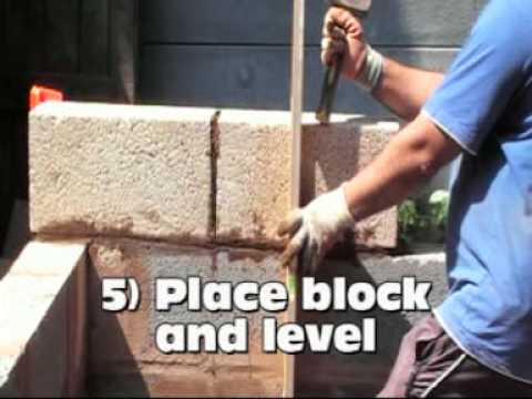 Easy, how to build a concrete block wall, a 6