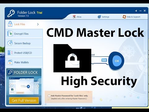 Lock and unlock Personal folder | using command prompt (CMD)