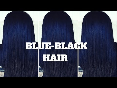 Dying My Hair Black with Blue Undertones| NO BLEACH| ft. Julia Hair