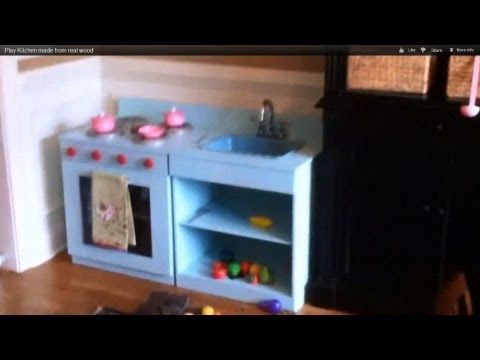 Play Kitchen made from real wood/built to last. Step by step.