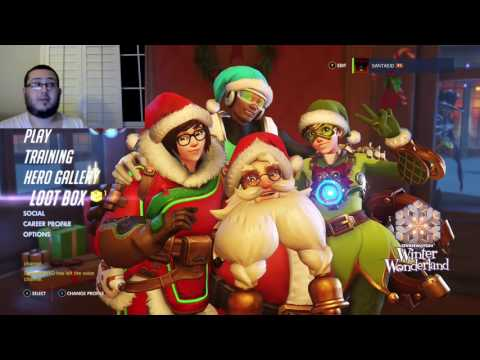 Opening Overwatch Winter Wonderland Loot Boxes The Hunt for Nutcracker and Rudolph (With FaceCam)