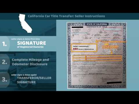 California Certificate of Title Transfer - Seller Instructions