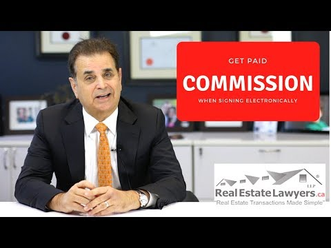 Getting Paid Commission When Signing Electronically