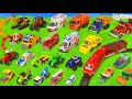Fire Truck Tractor Train Police Cars Garbage Trucks Excavator Toy Vehicles For Kids