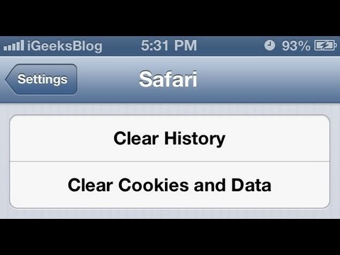 How to Clear Safari Browser History, Cookies and Cache on iPhone and iPad