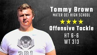 Tommy Brown highlights | 4-star Alabama OT signee from Mater Dei