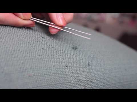 How to easily fix snagged upholstery caused by cat claws!