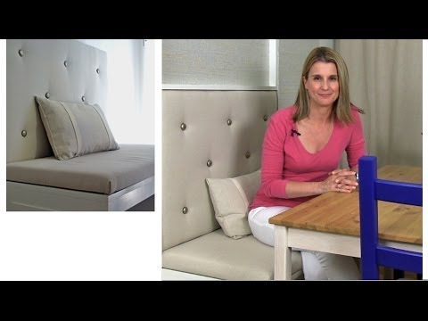 How to build an upholstered panel for a banquette